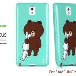 เคส Samsung Galaxy Note 3 ของ Focus Line Friends - สีฟ้า 01 (ลิขสิทธิ์)