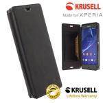 เคสฝาพับหนังแท้ Xperia Z3 ของ Krusell Kiruna Flip Case