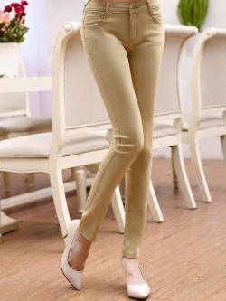 กางเกงสกินนี่ผ้ายีนส์ ฟอกสี สีที่ 7