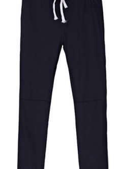 กางเกงฮาเร็ม เอวมีเชือกปรับระดับได้ สีดำ(Black)