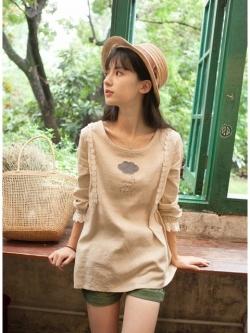 เสื้อระบายลูกไม้น่ารัก สดใสๆ สไตล์ญี่ปุ่น
