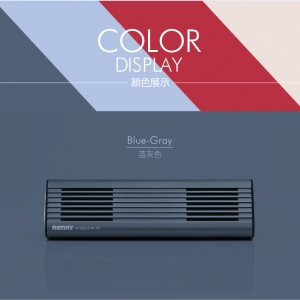 ลำโพงบลูทูธ Remax M3 เล็ก กระทัดรัด เสียงดังฟังชัด - Blue Grey ฟ้าเทา