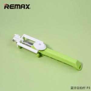 Remax P3 Selfie Stick Monopod Handheld & Remote Bluetooth ไม้เซลฟี รีโมท - Green สีเขียว