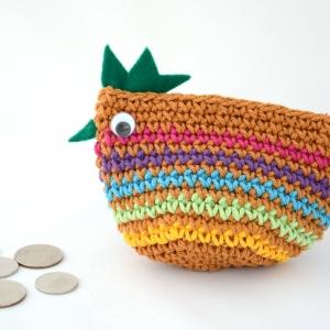 กระเป๋าสตางค์ถักโครเชต์ Knitted Coin Purse