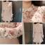 เสื้อเชิ้ตคอจีน ผ้าฝ้ายฉะลุดอกทั้งตัว พิมพ์ลายกุหลาบแสนหวาน thumbnail 3