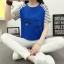 เสื้อยืดสั้น ขนตาวิ๊งๆ สีน้ำเงิน thumbnail 1
