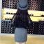 เสื้อเชิ้ตลูกไม้ผสมซีทรู สีดำ thumbnail 4