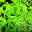 100% Silicone Loom Band สีGreen Apple (แอปเปิ้ลเขียว) 600เส้น ( # 27 ) thumbnail 1