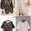 เสื้อลูกไม้คอตตอนอย่างดีค่ะ ด้านในเป็นผ้าจอเจียร์สีครีม แบบสวยมากค่ะ thumbnail 6