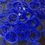 100% ซิลิโคน Loom Band สีน้ำเงินสด 600 เส้น ( # 13 ) thumbnail 1