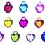 Loom Charms : หัวใจคริสตัล 10 ชิ้น thumbnail 2