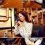 เสื้อคอจีนระบาย ลายดอท สีขาว thumbnail 4