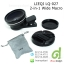 LIEQI Universal Mobile Clip Lens LQ-027 Super Wide Lens 0.45x with Macro 37mm คลิปเลนส์มือถือ 2-in-1 Black สีดำ