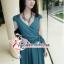 พร้อมส่ง ชุดเดรสยาวผ้าชีฟองคอวีลึก thumbnail 9