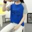 เสื้อยืดสั้น ขนตาวิ๊งๆ สีน้ำเงิน thumbnail 3