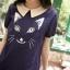 เสื้อเชิ้ตผ้าฝ้ายนุ่มนิ่ม พิมพ์ลายน้องแมวเหมียว กระดุมด้านหลัง thumbnail 3