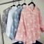 เสื้อเชิ้ตผ้าฝ้ายคอจีน งานปักดอกไม้ทั้งตัว รุ่น 2 thumbnail 5