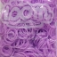 100% Silicone Loom Band รุ่นเรืองแสง(Glow in the dark )/ สีม่วงพาสเทล 600 เส้น(GPV) thumbnail 1