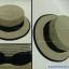 หมวกทรงเค้ก สีน้ำตาลคาดโบว์สีดำ thumbnail 2