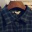 เสื้อเชิ้ตลายสก๊อต hit item เก๋ตรงที่กระเป๋าหน้า สีเขียว(Green) thumbnail 4