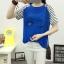 เสื้อยืดสั้น ขนตาวิ๊งๆ สีน้ำเงิน thumbnail 6