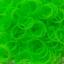 ยางถัก 100%Silicone loom band สีเขียวนีออน 600 เส้น ( # 6 ) thumbnail 1