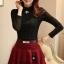 เสื้อเชิ้ตลูกไม้ฝรั่งเศส สีดำ thumbnail 1
