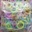 100% ซิลิโคน Loom Band รุ่นกากเพชรคละสี 600 เส้น (GLM) thumbnail 2