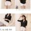 เสื้อเชิ้ตชีฟองคอวีแฉก สีดำ thumbnail 5