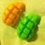 แม่พิมพ์ รูปมะม่วงผ่า 5หลุม(110 g) 6.5*11*2.5 cm thumbnail 2