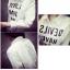 เสื้อเชิ้ตขาวพิมพ์ลาย TEXT!! thumbnail 5