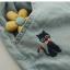 กางเกงยีนส์ขาสั้น กระเป๋าหน้า-หลัง งานปัก 2 จุด สีอ่อน thumbnail 7