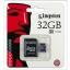 ไมโคร sd card kingston 32GB Class 4 ราคา 410 บาท thumbnail 1