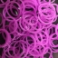 100% Silicone Loom Bands Glow in the dark / ม่วงอมชมพู 600 เส้น (GV) thumbnail 1