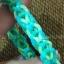ยางถัก 100%Silicone loom band สีเขียวนีออน 600 เส้น ( # 6 ) thumbnail 3