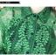 เสื้อเชิ้ตลูกไม้ผสมซีทรู สีเขียว thumbnail 5