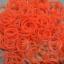 100% Silicone Loom Band สีพีช นีออน 600เส้น ( # 29 ) thumbnail 1