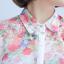 เสื้อเชิ้ตชีฟองพิมพ์ลายดอกไม้ไหล่ thumbnail 5