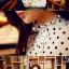 เสื้อคอจีนระบาย ลายดอท สีขาว thumbnail 5
