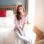 เสื้อเชิ้ตตัวหลวมลายสก๊อตหวานนนน สีชมพู(Pink) thumbnail 3