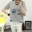 เสื้อยืดสั้น ขนตาวิ๊งๆ สีเทา thumbnail 5