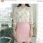 เสื้อเชิ้ตคอจีน ผ้าฉลุทั้งตัว พิมพ์ลายซากุระ แขนยาว 4 ส่วน thumbnail 7