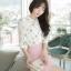 เสื้อเชิ้ตคอจีน ผ้าฉลุทั้งตัว พิมพ์ลายซากุระ แขนยาว 4 ส่วน thumbnail 4