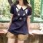 เสื้อเชิ้ตผ้าฝ้ายนุ่มนิ่ม พิมพ์ลายน้องแมวเหมียว กระดุมด้านหลัง thumbnail 2