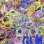 100% ซิลิโคน Loom Band รุ่นกากเพชรคละสี 600 เส้น (GLM) thumbnail 1