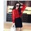 เสื้อเชิ้ตลูกไม้ผสมซีทรู สีแดง thumbnail 1