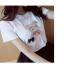 เสื้อยืดสั้น ปักหมีน่ารัก สีขาว thumbnail 4