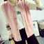 เสื้อคุลมคาดิกันทอลาย กระดุมไม้ สีชมพู(Pink) thumbnail 1