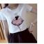 เสื้อยืดสั้น สกรีนผู้หญิงปักเพชร thumbnail 3