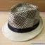 หมวกทรงไมเคิล สีครีม-น้ำตาล ลายตาราง thumbnail 1